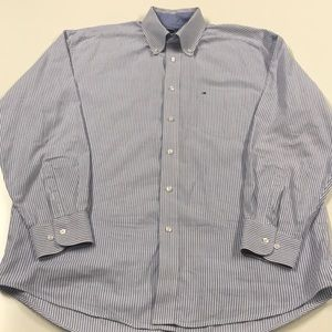 Tommy Hilfiger Shirts - TOMMY HILFIGER Blue White Oxford Dress Shirt LARGE